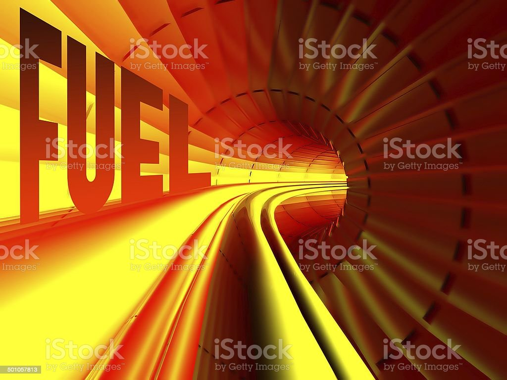 Fuel concept energy flow inside of cable royalty-free stock photo