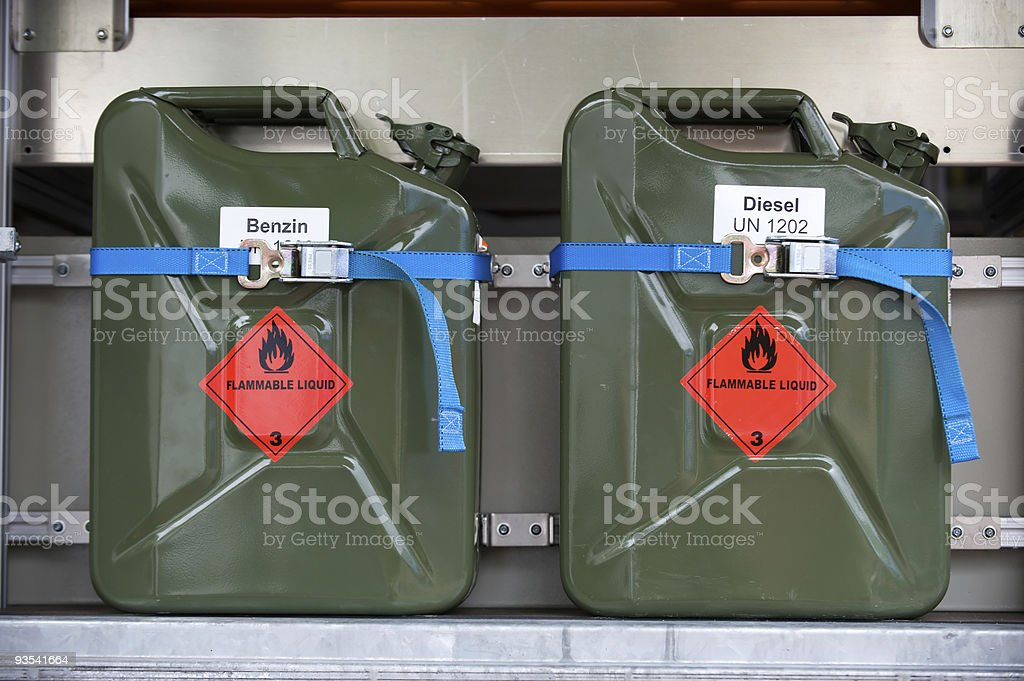 Fuel Container, Gas Can stock photo