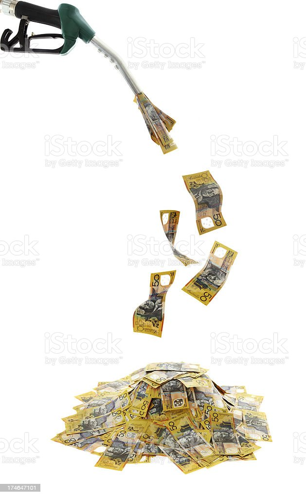 Fuel Costs royalty-free stock photo