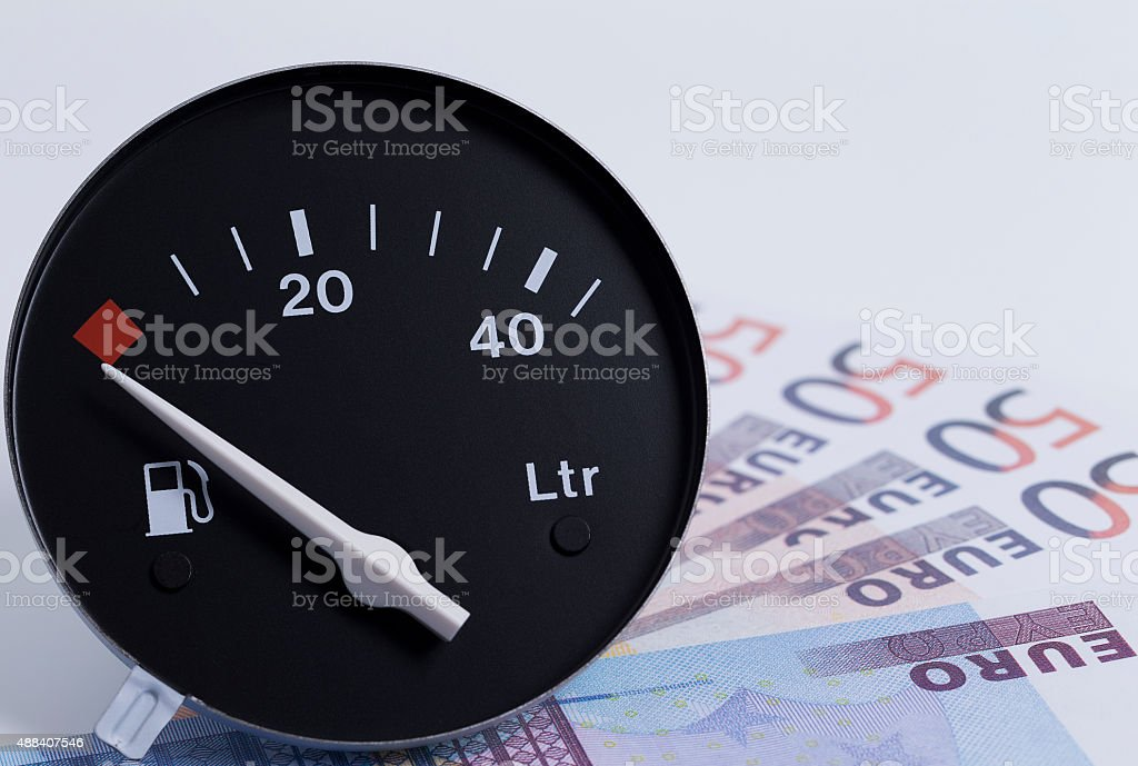 Fuel costs stock photo