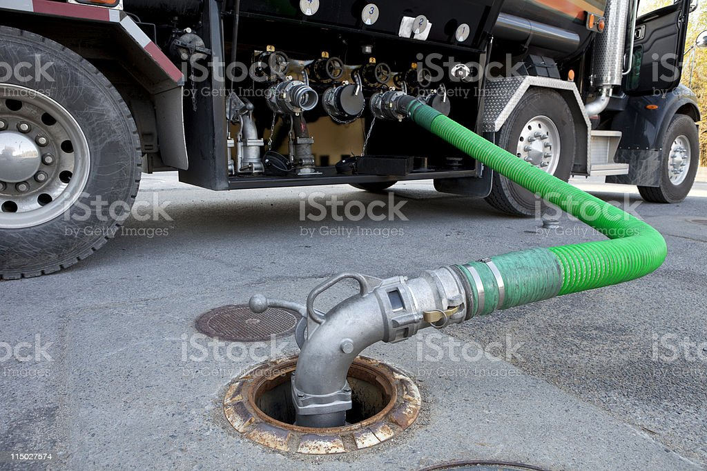 Fuel Delivery Tanker stock photo