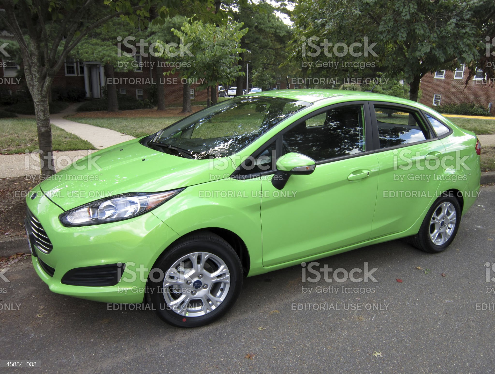 Fuel Efficient Ford Fiesta royalty-free stock photo