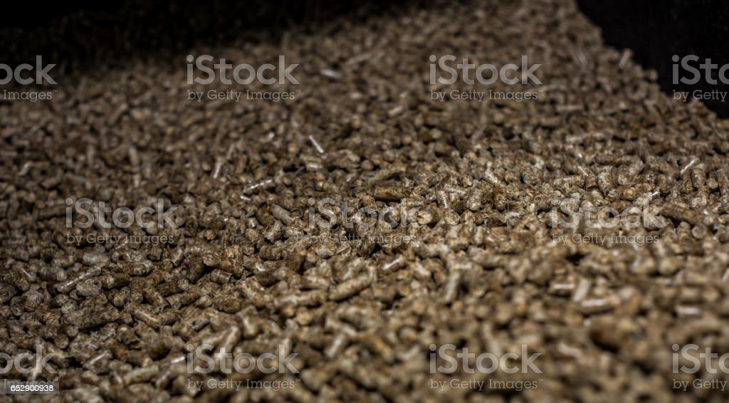 fuel for solid fuel boilers stock photo