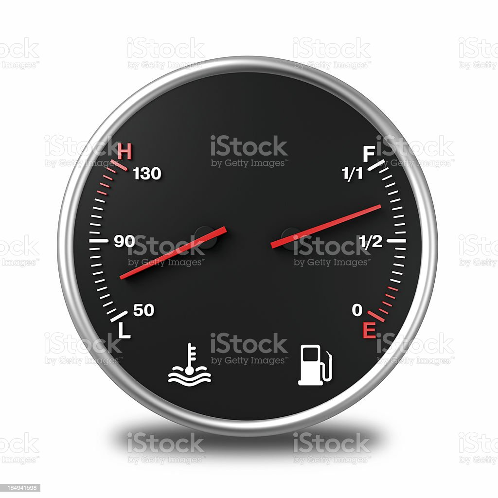 Fuel Gas Gauges royalty-free stock photo