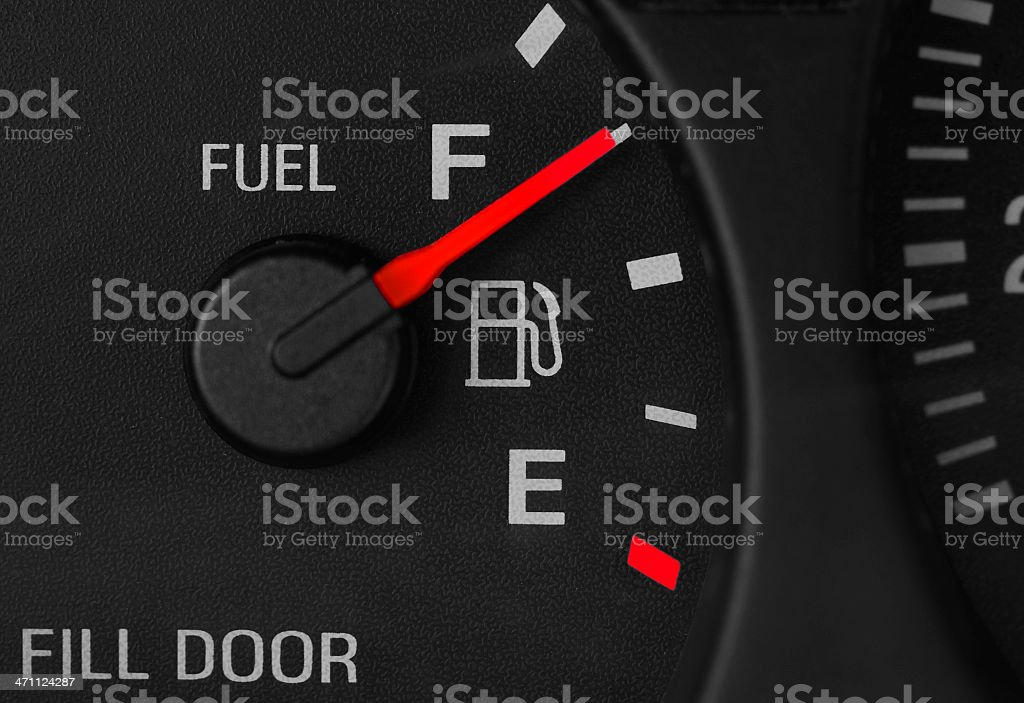 Fuel Gauge Close Up stock photo
