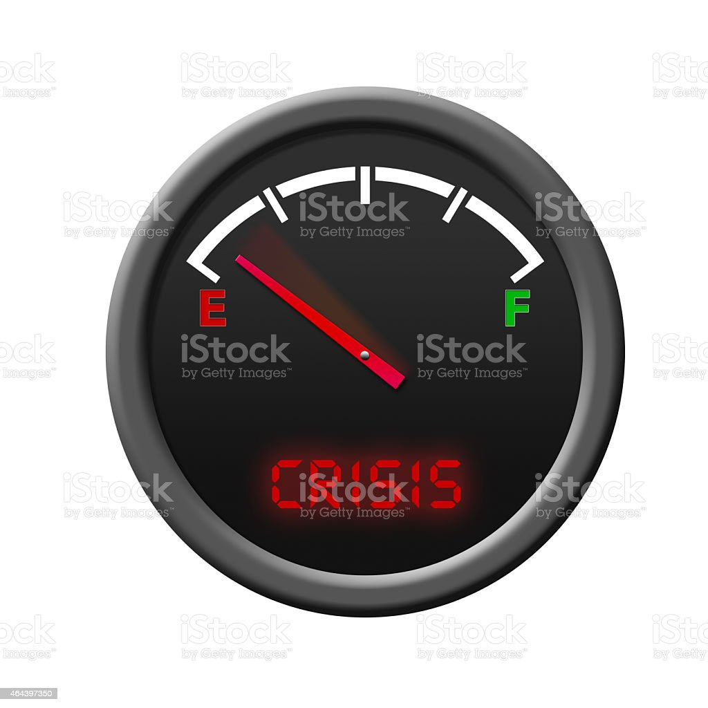 Fuel Gauge -crisis- stock photo