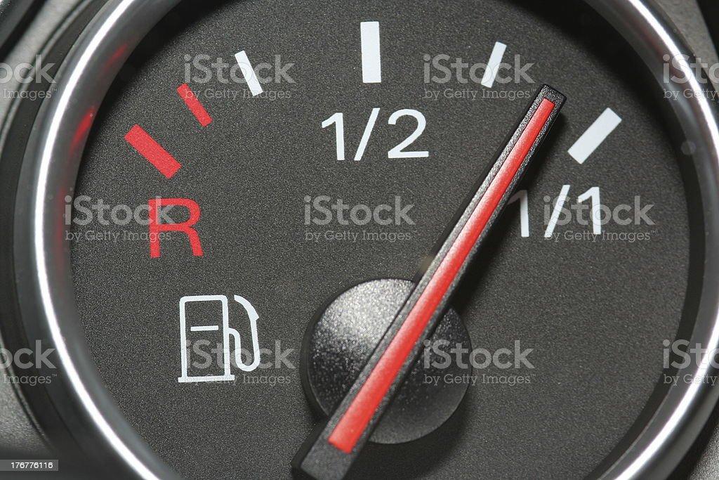 Fuel Gauge Full royalty-free stock photo
