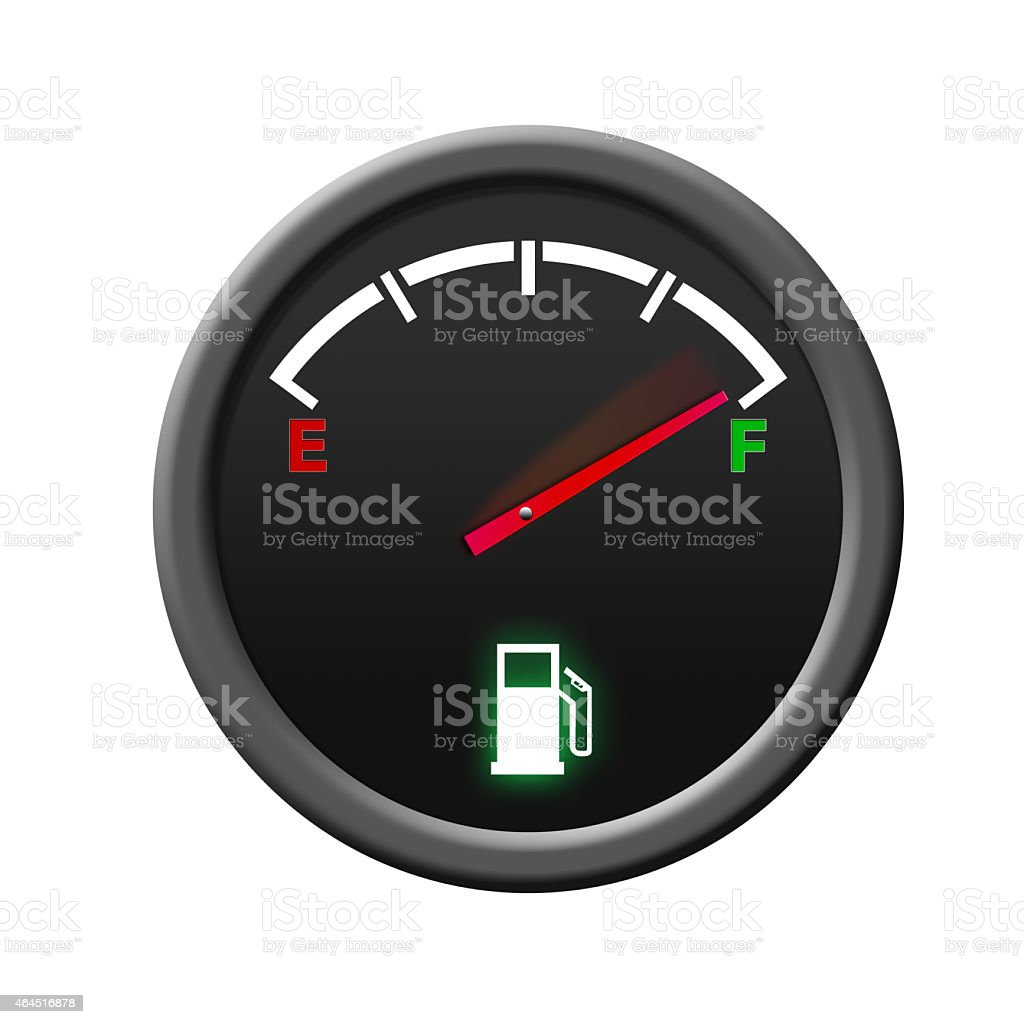 Fuel Gauge -full- stock photo