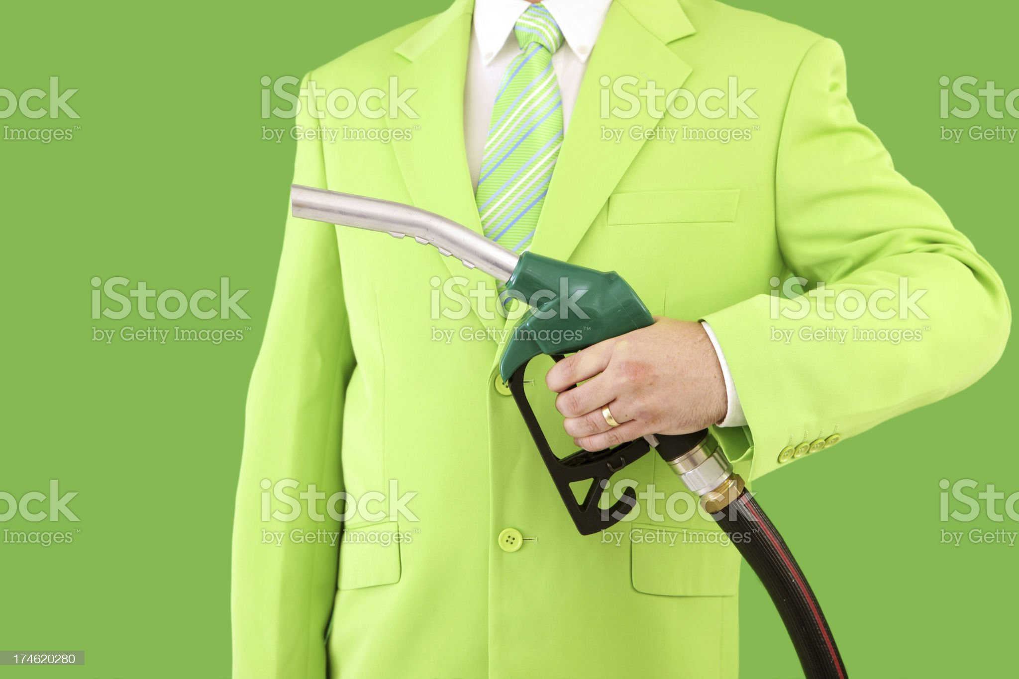 Fuel Green royalty-free stock photo