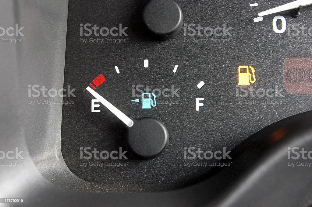 fuel guage, car dashboard (instrument cluster) stock photo
