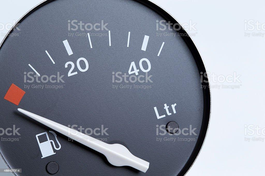 Fuel indicator stock photo