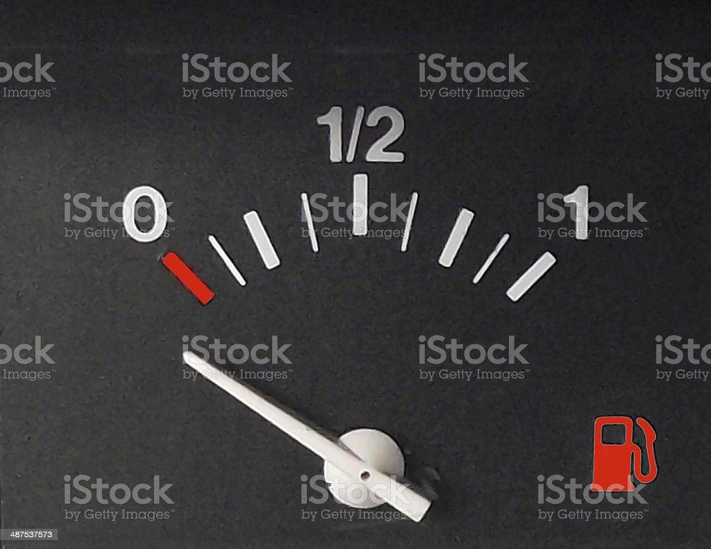 Fuel indicator, simple stock photo