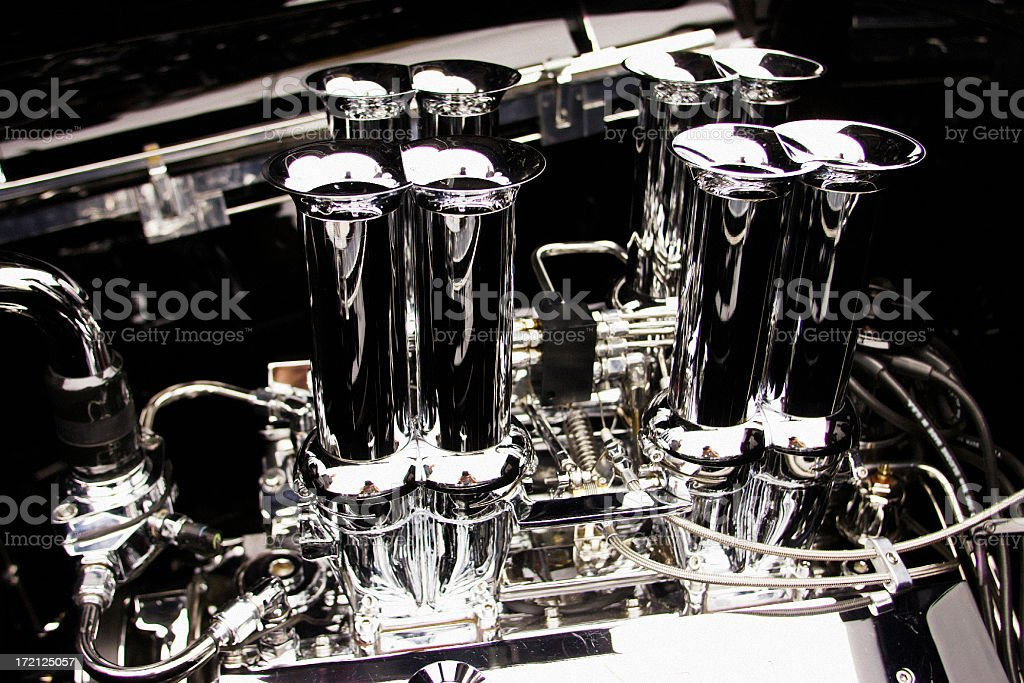 Fuel Injected Hot Rod royalty-free stock photo