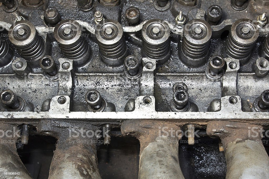 Fuel injection part of diesel engine royalty-free stock photo