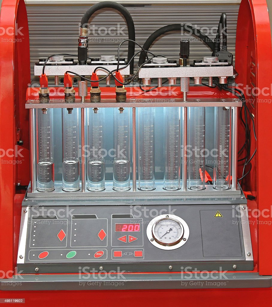 Fuel Injector Testing stock photo
