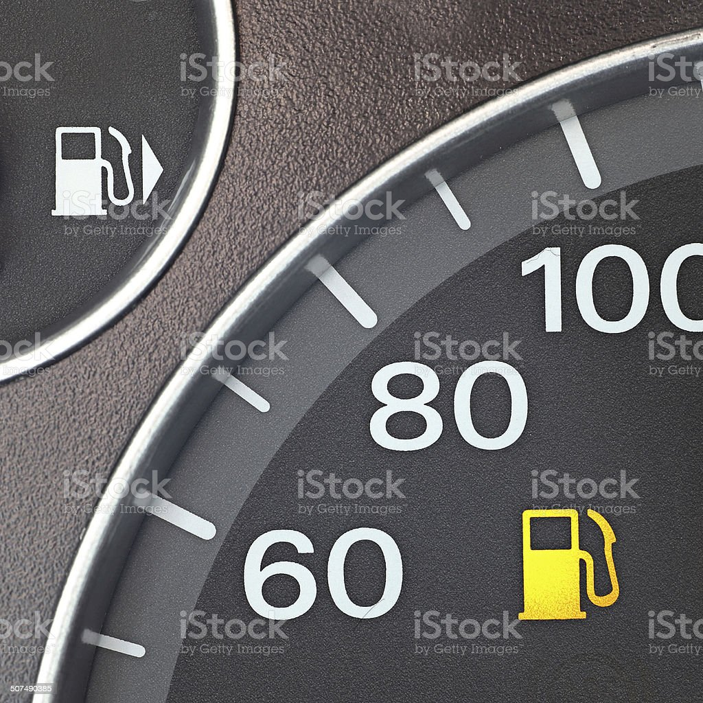 Fuel Light stock photo