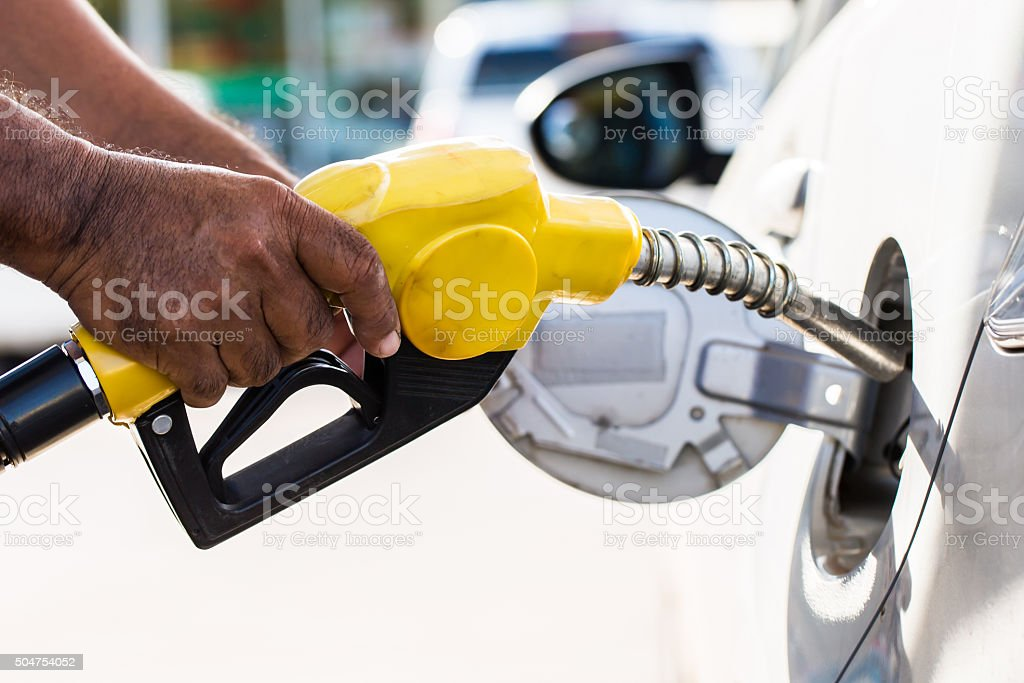 Fuel nozzle stock photo