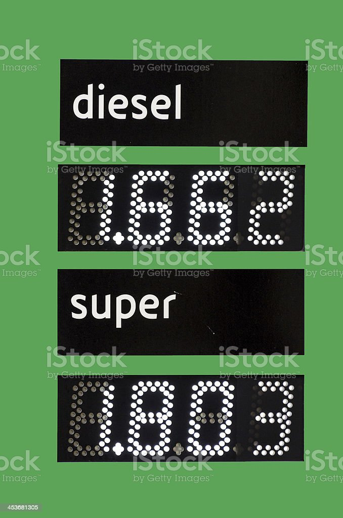 Fuel price royalty-free stock photo