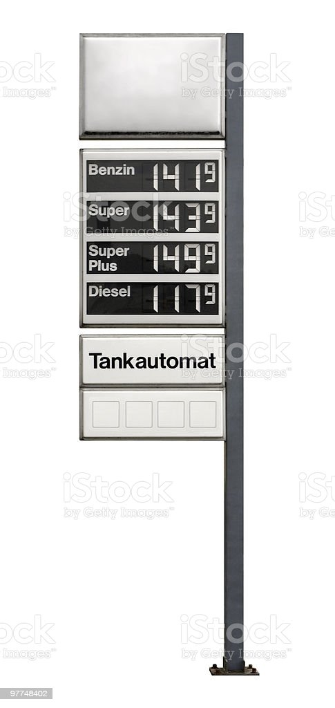 fuel price sign royalty-free stock photo