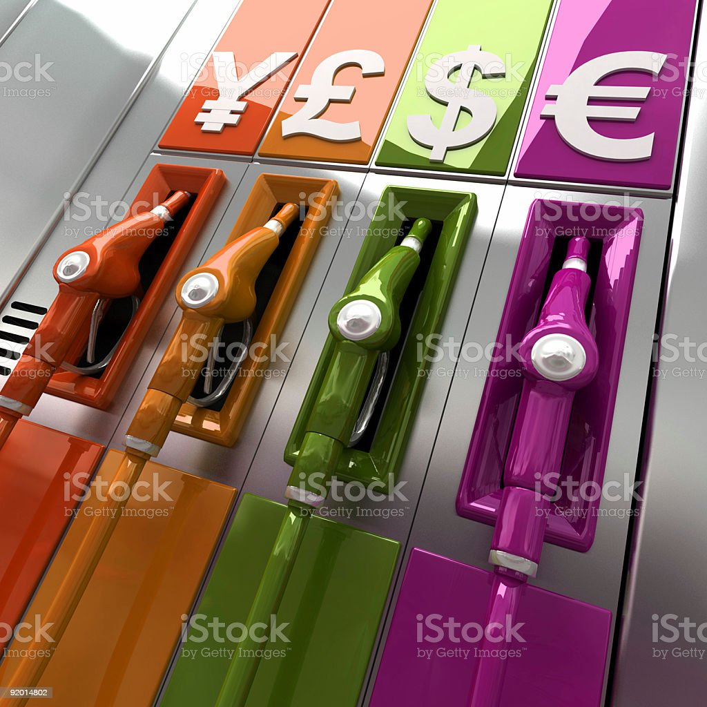 Fuel prices royalty-free stock photo
