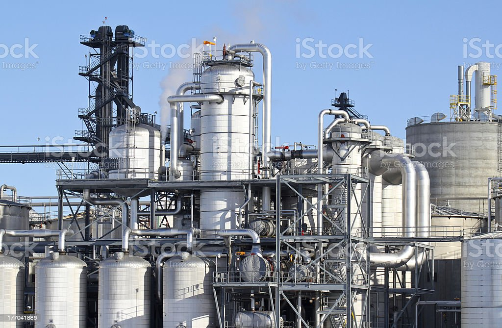 fuel production stock photo