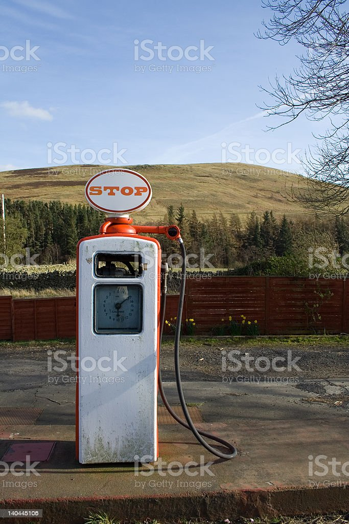 fuel pump, old style royalty-free stock photo