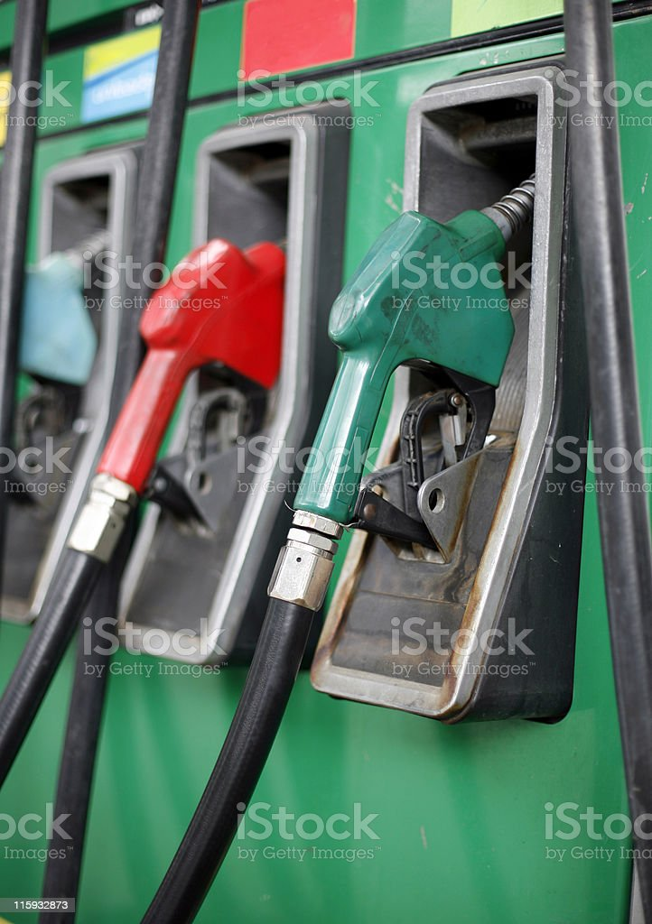 Fuel pumps macro royalty-free stock photo