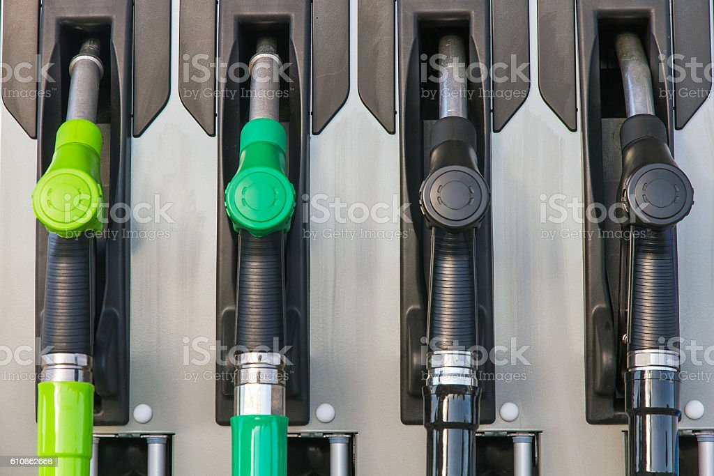 Fuel pumps or dispensers in Gas - Surtidores de Combustible stock photo
