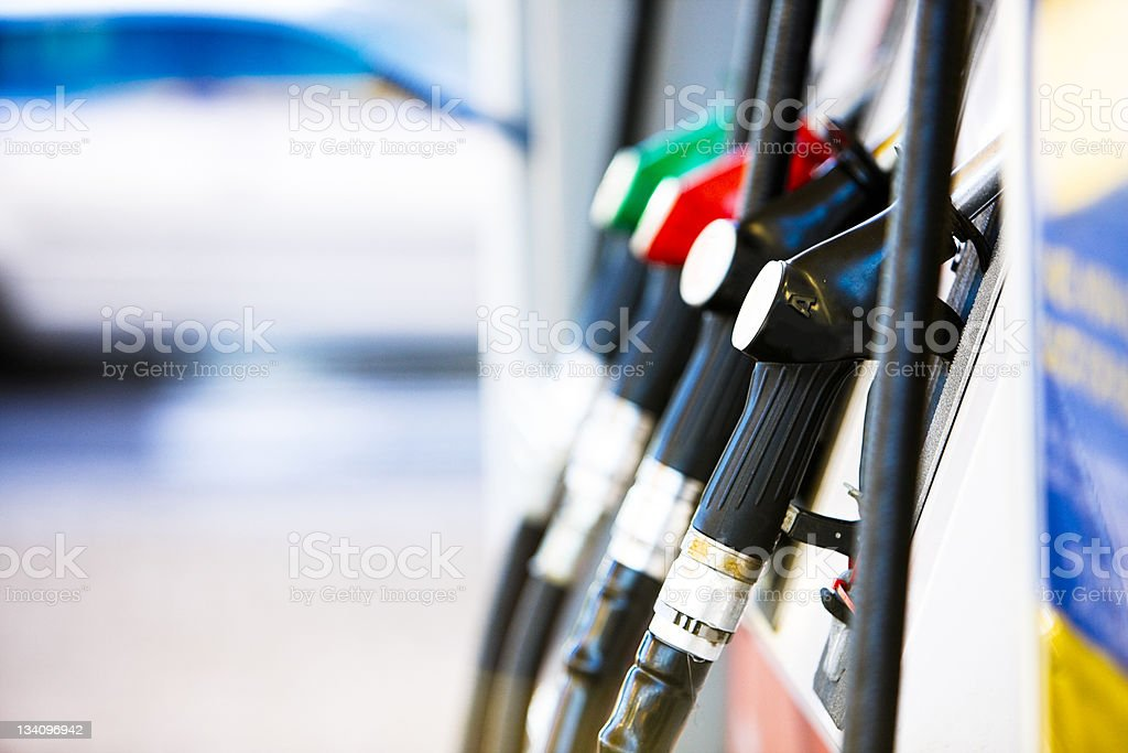 Fuel pumps stock photo