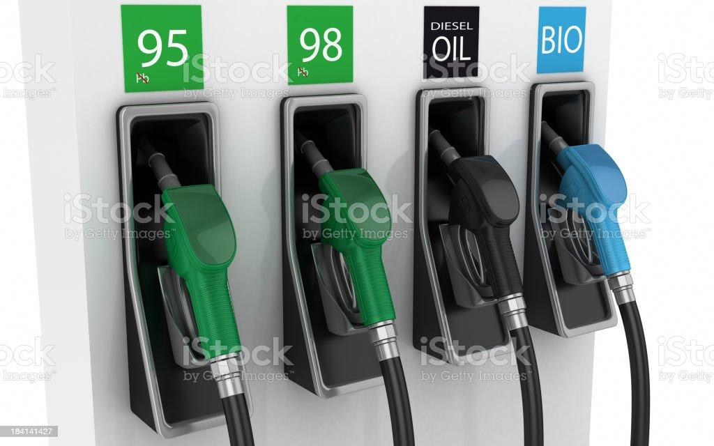 Fuel pumps stock photo