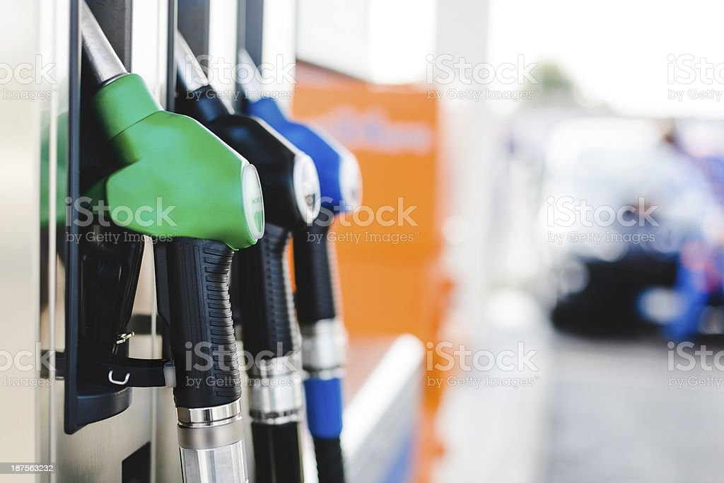 Fuel pumps royalty-free stock photo