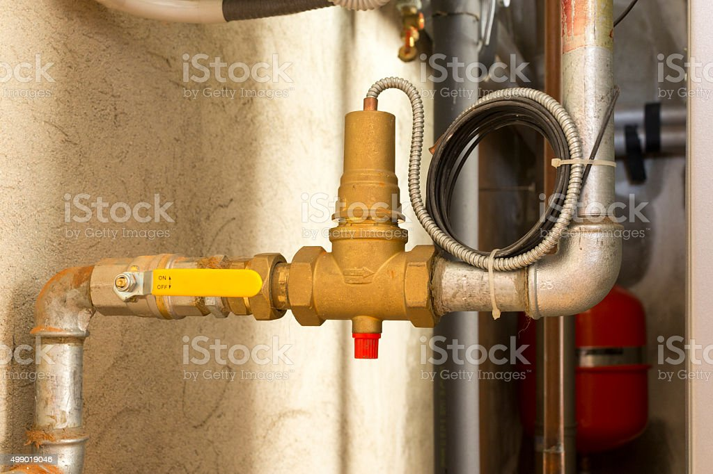 Fuel shut-off valve stock photo