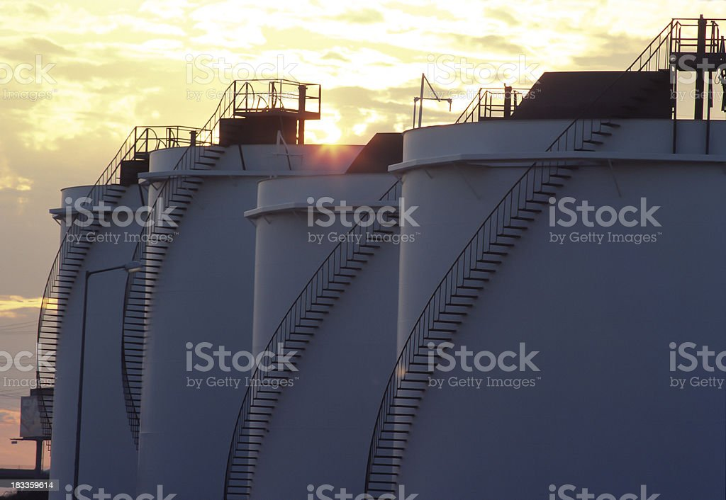 Fuel Storage Containers royalty-free stock photo