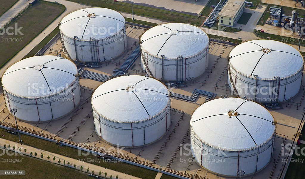 Fuel storage facility stock photo