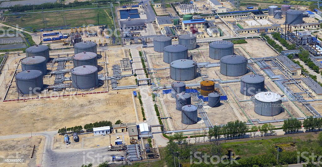Fuel storage facility royalty-free stock photo