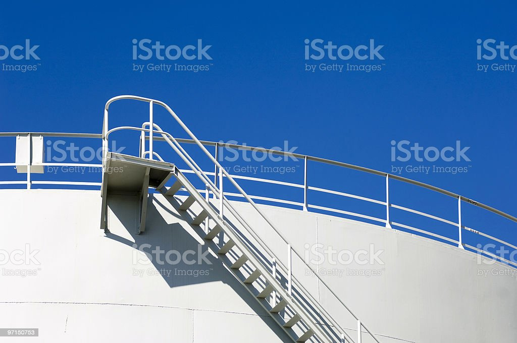 Fuel storage tank detail royalty-free stock photo