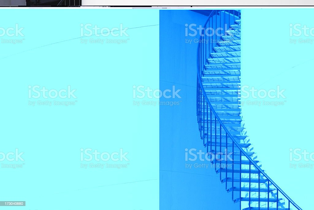 Fuel Storage Tank Refinery Spiral Staircase royalty-free stock photo