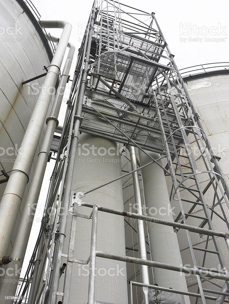 Fuel Storage Tank tower royalty-free stock photo