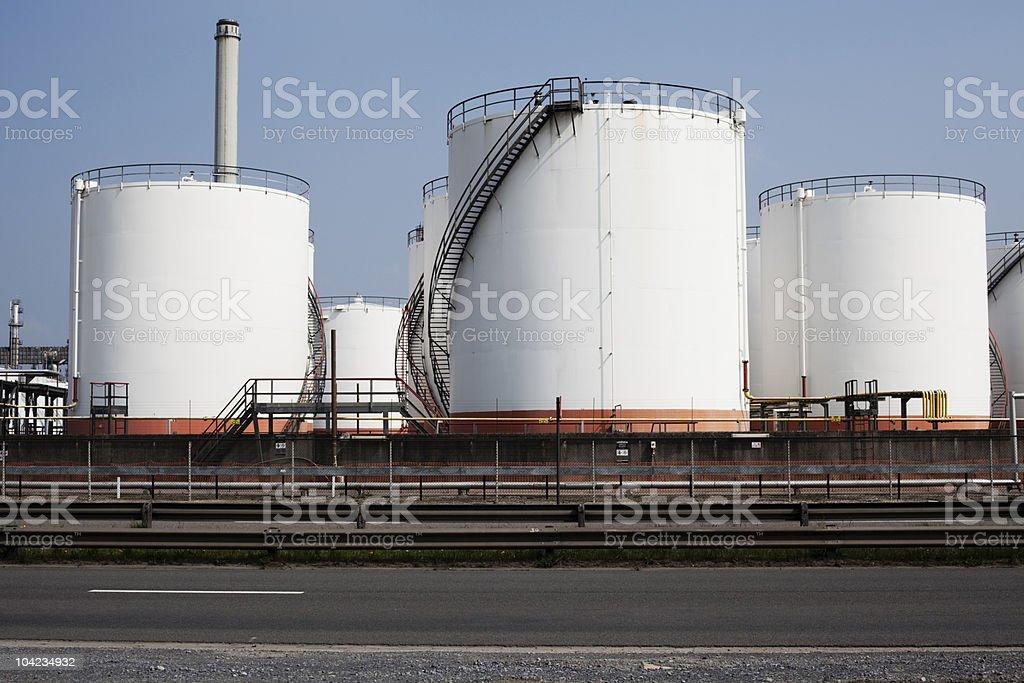 Fuel Storage Tanks stock photo