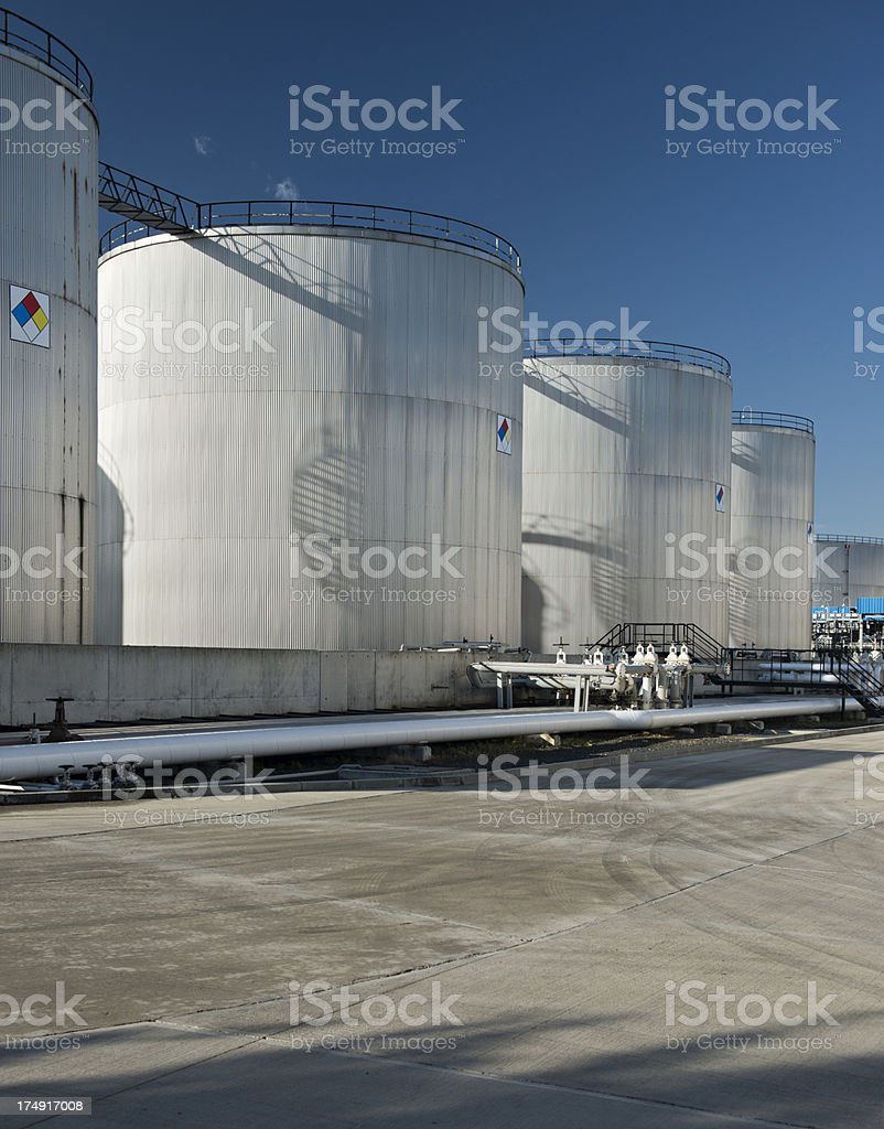 fuel storage tanks royalty-free stock photo