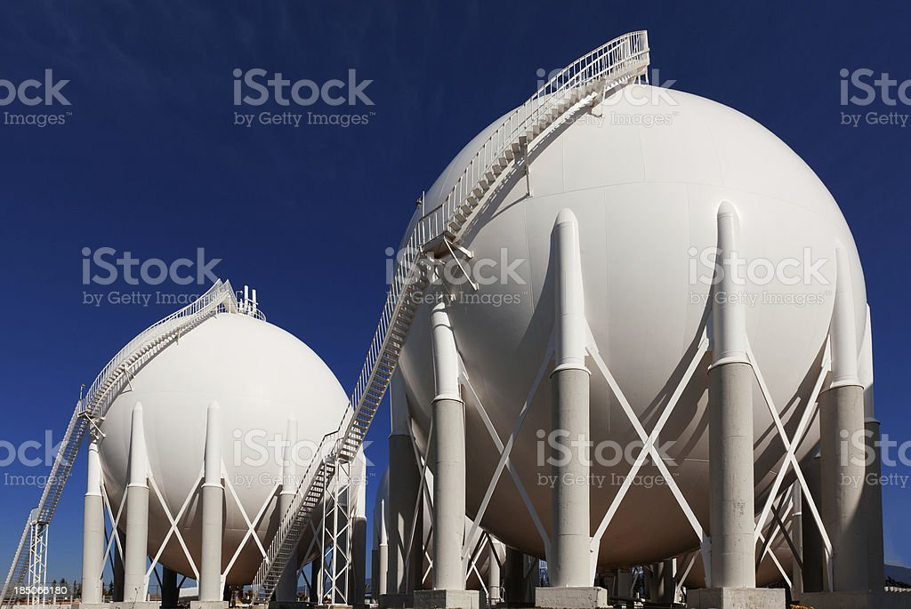 fuel storage tanks stock photo