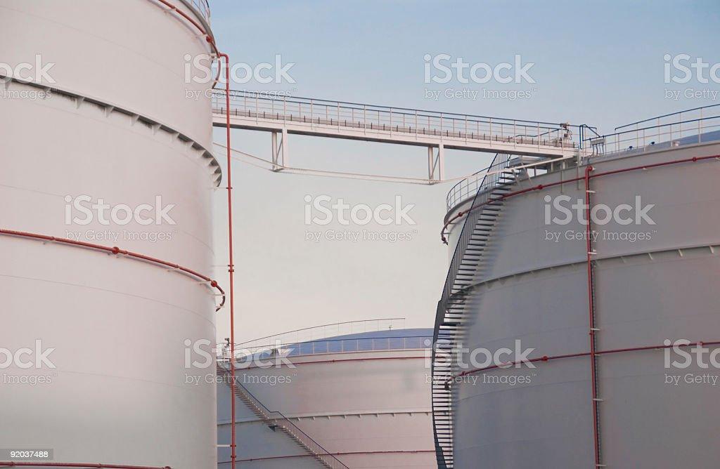 Fuel Storage Tanks royalty-free stock photo