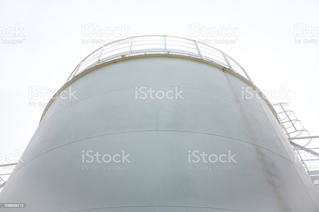 Fuel store tank of refueling complex royalty-free stock photo