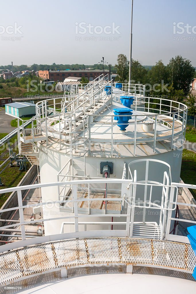 Fuel store tanks of refueling complex in the airport royalty-free stock photo