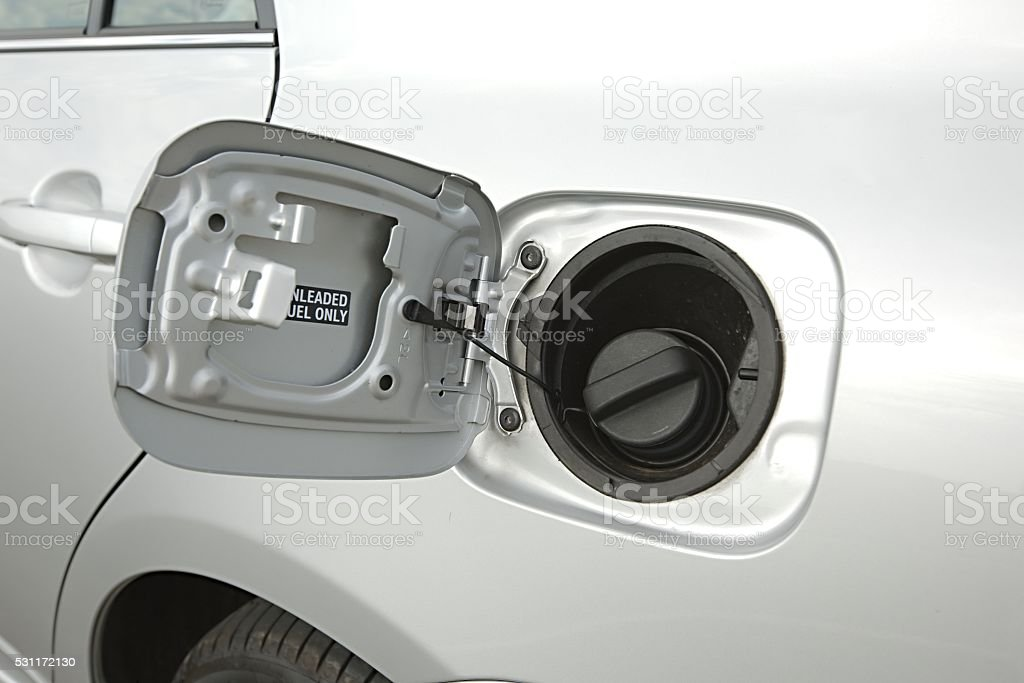 Fuel Tank of a car stock photo