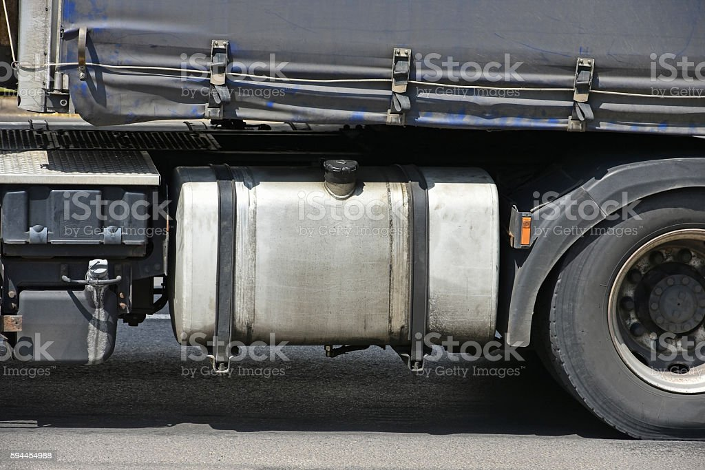 Fuel tank of a truck stock photo