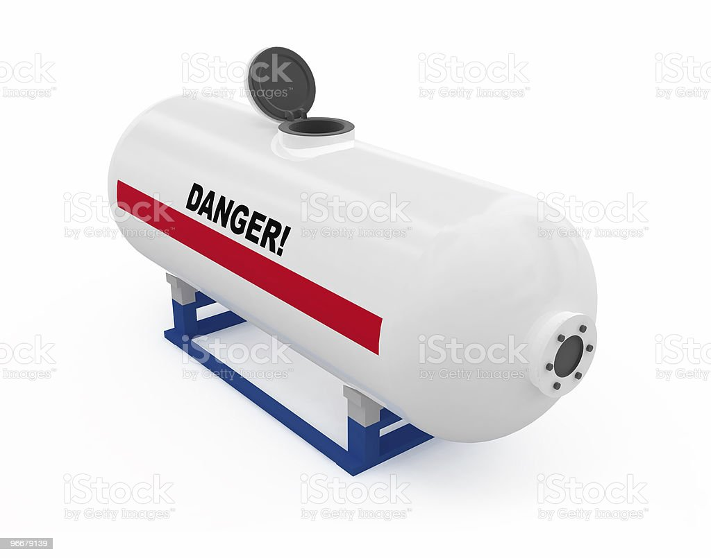 Fuel tank opened royalty-free stock photo