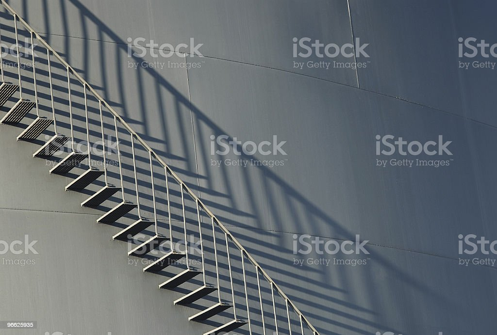 Fuel tank staircase royalty-free stock photo