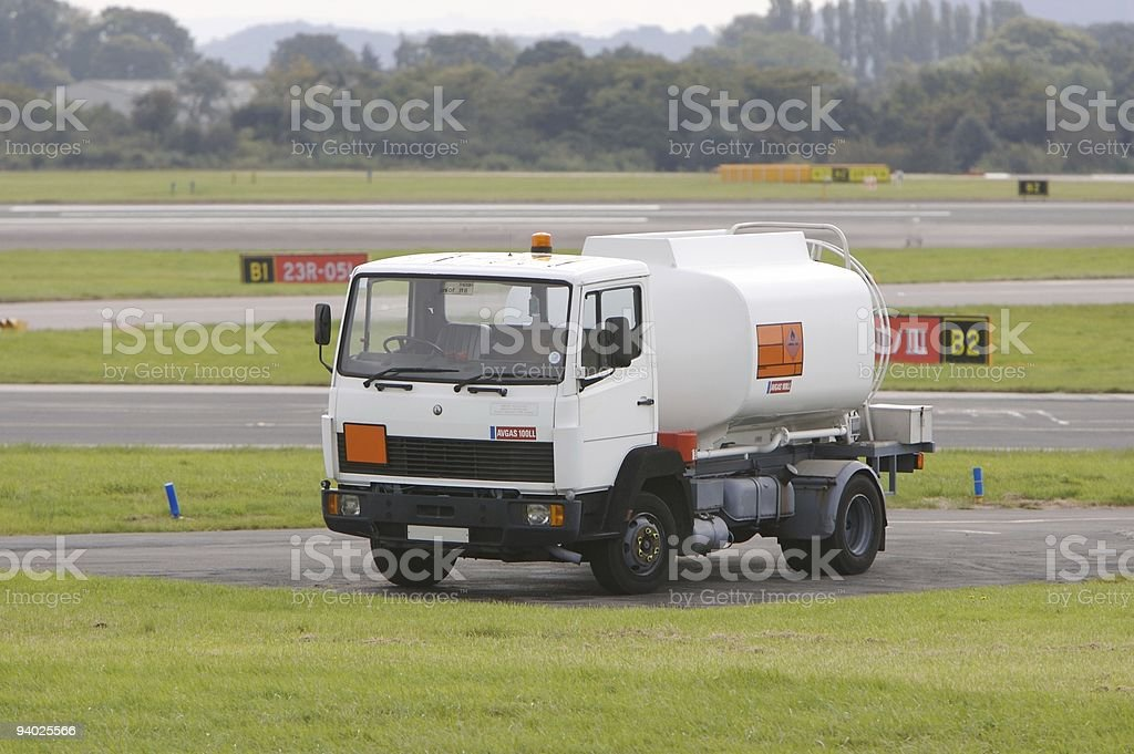 AVGAS 100LL Fuel Tanker royalty-free stock photo