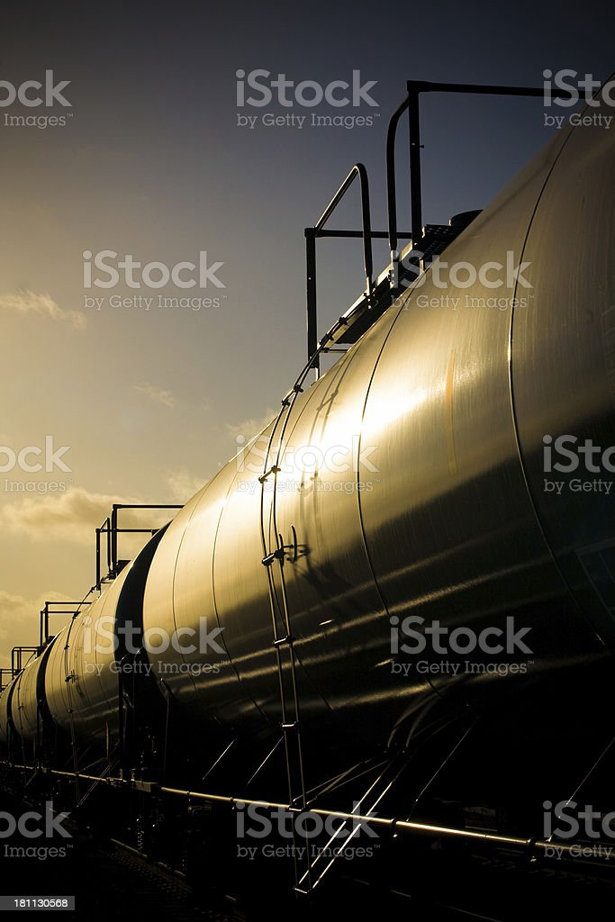 Fuel Tanker Train royalty-free stock photo